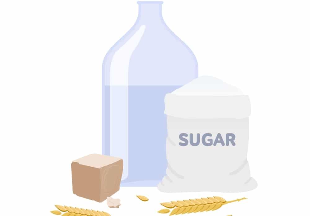 Правильная брага для самогона из сахара и дрожжей
